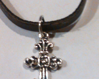 Leather cross braclet