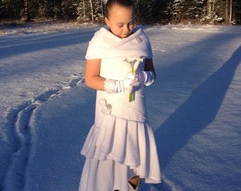 The Angel Daisy Polar Fleece Flower Girl Dress
