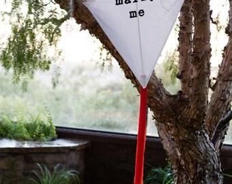 Handmade Kite MARRY ME (decorative/photo prop)