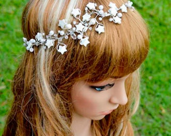 Natural White Shell Star Headpiece
