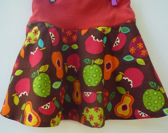 Skirt for toddler/girl in red and brownes in size 3t for fall and winter.