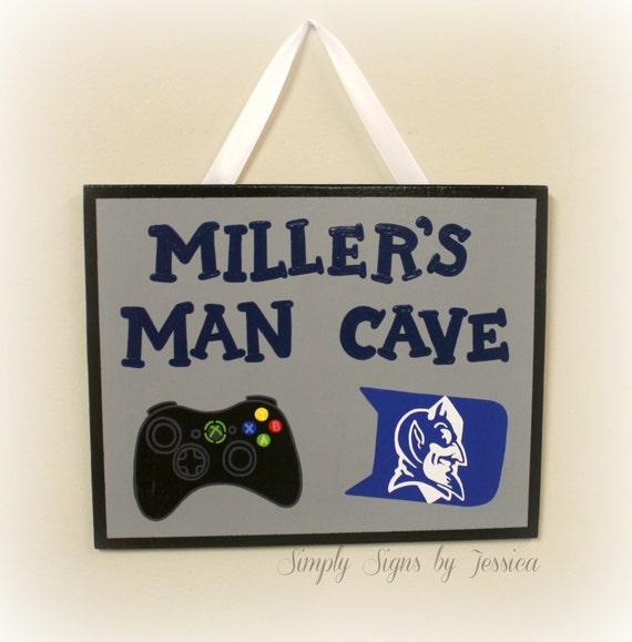 Personalised Wooden Man Cave Signs : Custom hand painted wooden man cave sign by simplysignsbyjess