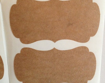READY TO SHIP: 10 Custom Kraft Paper Sticker Labels