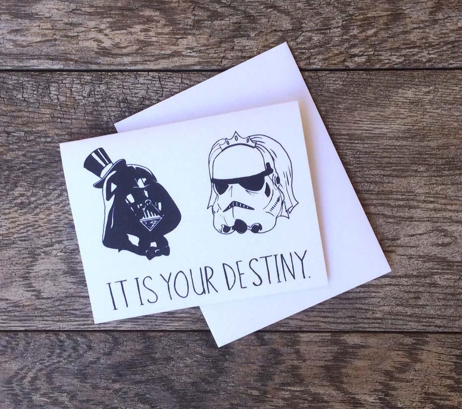 Fabulous Star Wars Destiny Wedding Card BU71