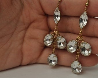 Crystal Rhinestone Chandelier Earrings