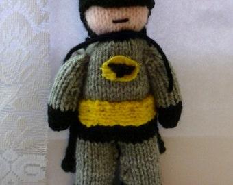 Batman Knitted Doll