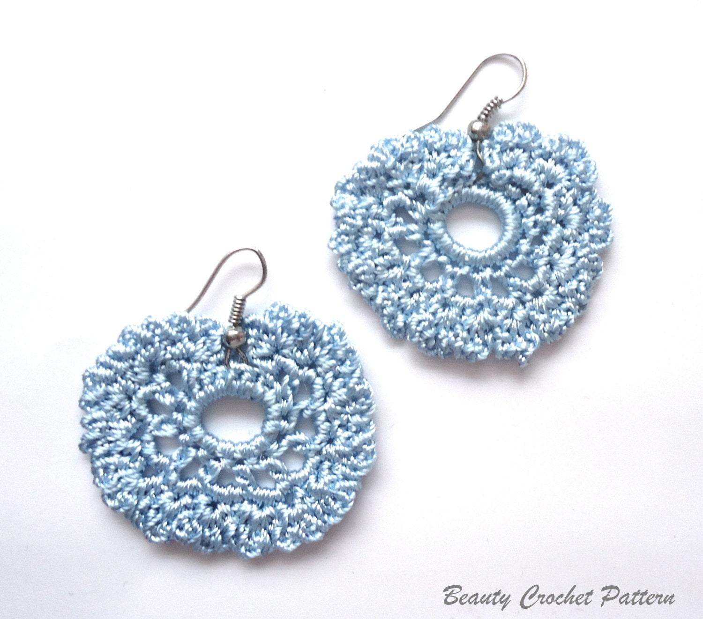 Crochet Hook Earrings: Crochet Earrings Pattern Crochet Jewelry Pattern Earrings
