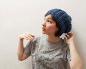 Blue Jeans Beanie in Baby Alpaca- Made to Order