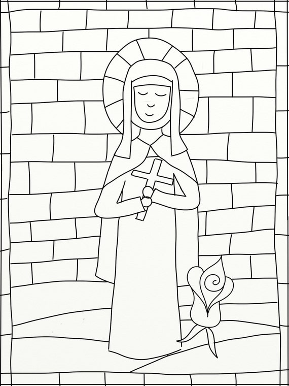 therese of lisieux coloring pages - photo#15
