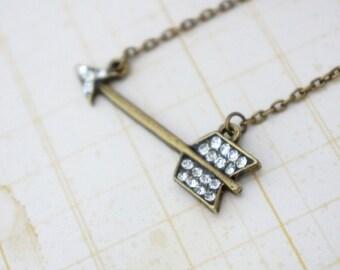50% OFF Necklace, Rhinestone Arrow Necklace: No. N102 1
