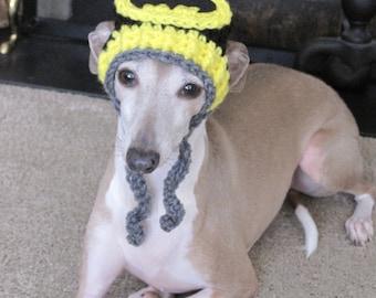 Dog Hat - Batman Dog Hat - Super Hero's Dog Hat for Cat or Dog Custom Made