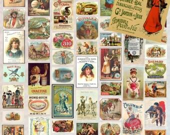50 Vintage Ads 1 - Digital Scrapbooking Clipart Graphics Vintage Ads