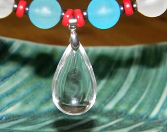 Blue Sky Raindrop Necklace