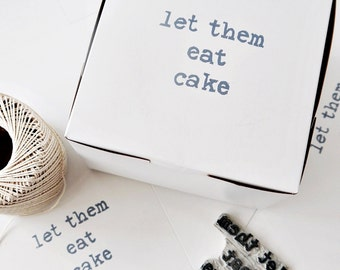 Let Them Eat Cake // Pastry, Gift, Favor Box // Discount For Bulk Orders // Charitable Donation
