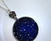 Personalized  Star Map Pendant - Miniature Star Painting for Space Lovers
