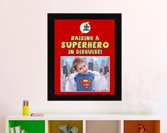 Superhero Poster, Autism Awareness - Birthday GIft