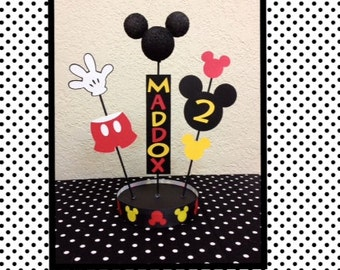 Mickey Mouse Birthday Centerpiece Decorations - Personalized