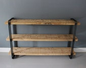 Industrial Bookcase, Shelving Unit, Storage, Reclaimed Wood, Rustic, Rustic