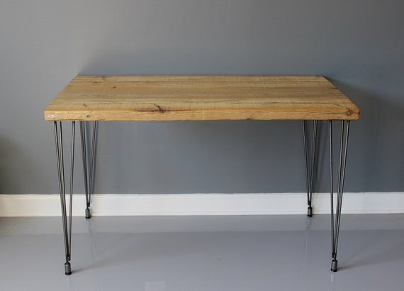 Natural Wood Dining Table with Hairpin Legs, Reclaimed Wood Furniture, Kitchen Table, Reclaimed