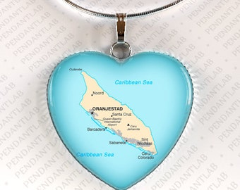 Aruba Map Pendant, Aruba Necklace, Aruba Charm, Aruba  Jewelry, Gift, Travel