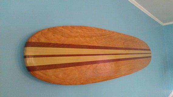 Surfboard Wall Hanging Art 6 ft. Solid Wood Vintage