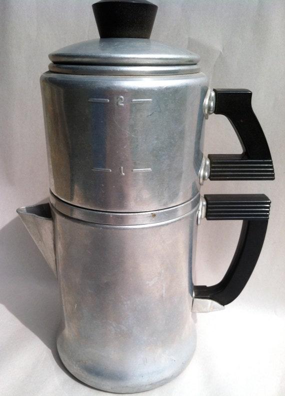 Vintage Wear Ever Espresso Coffee Percolator Pot
