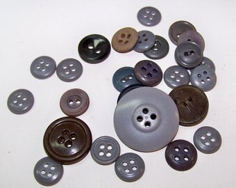 Gray Buttons Vintage 1940-1950