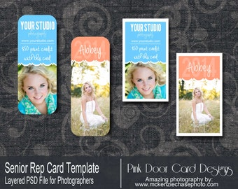 Rep Cards for WHCC and Millers - Senior Rep - Template for Photographers - Instant Download MB7