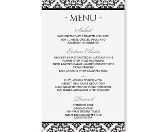 popular items for menu card on etsy