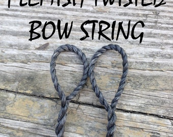Custom Flemish-Twisted Bow String - Perfect for Longbow or Recurve - B50 Dacron