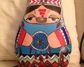 Fatty Coixi - Navajo Dream Catcher - hand-painted soft sculpture doll - Coixi