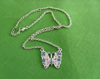 Silver-tone Butterfly Necklace (Item 293)