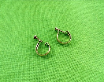 Vintage Screw Back Hoop Earrings (Item 742)