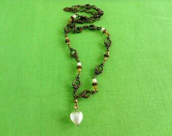Vintage Brass-tone Necklace (Item 230M)