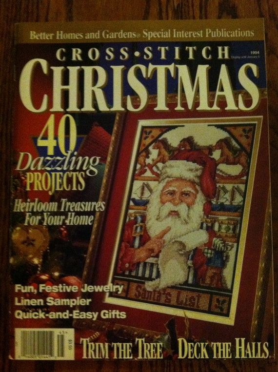 christmas cross stitch better homes and gardens by
