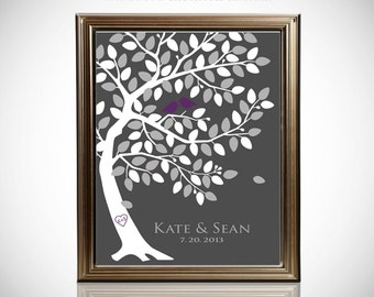 Custom Wedding Guest Book // Wedding Guest Book Ideas // Wedding Tree Guestbook // Canvas or Matte Print 75-150 Guests // 16x20 Inches