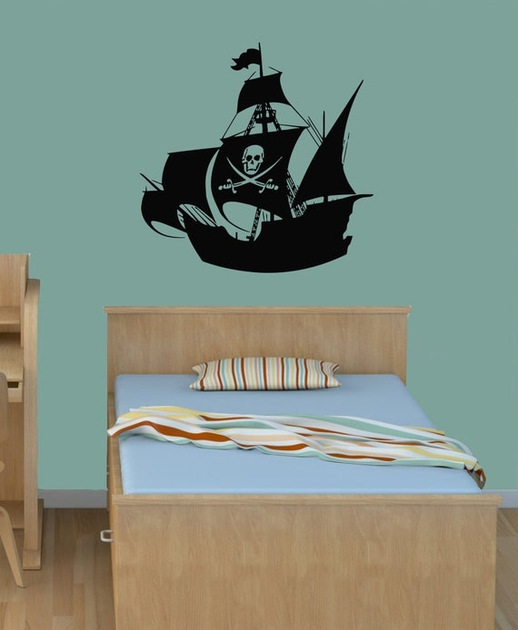 wall decals pirate ship home vinyl decal sticker by decalhouse. Black Bedroom Furniture Sets. Home Design Ideas