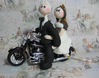 Bike cake topper, Motorcycle wedding cake topper, Bike cake topper, custom wedding cake topper