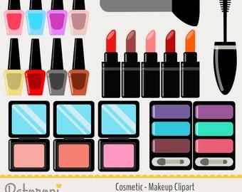 Clip Art Makeup Clip Art makeup brush clipart etsy cosmetics colorful clipart