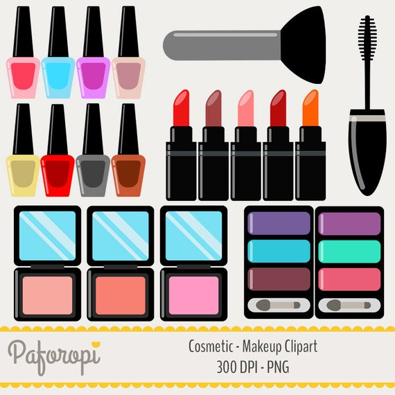 Items Similar Cosmetics Colorful Makeup Clipart Etsy
