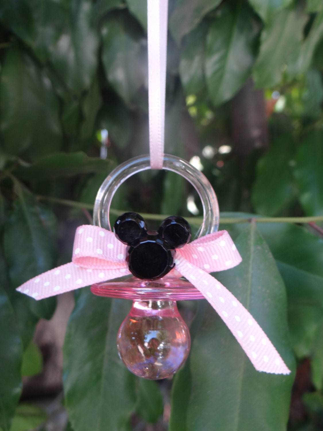 12 minnie mouse pacifier baby shower favors by fantastikcreations