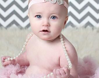Rhinestone Baby Headband, Rhinestone Birthday headband, Adult Headband, Rhinestone Headband, rhinestone Flower Girl Headband,Bridal Headband