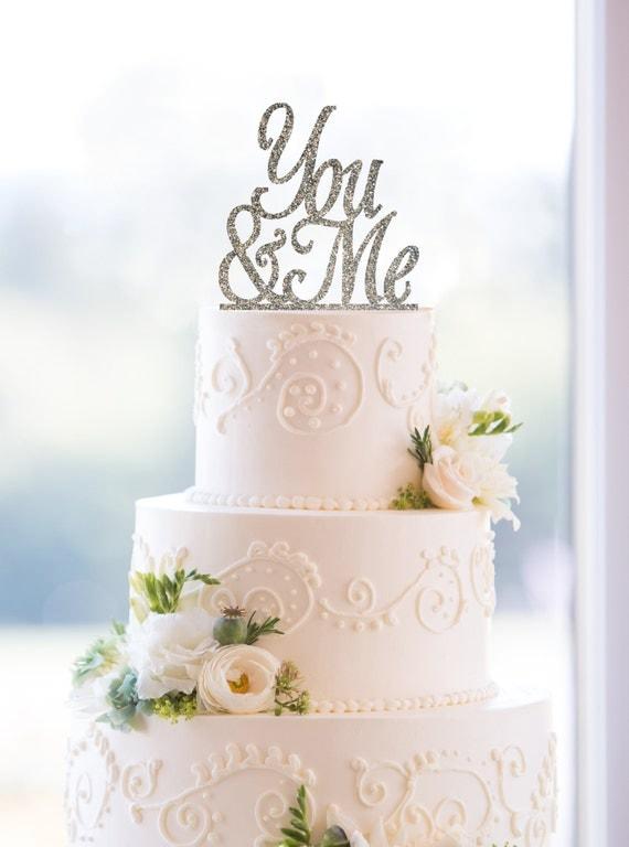 You & Me Cake Topper