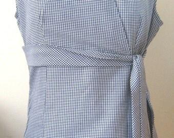 Womens Gingham Dress, Midi Dress, Plus size Dress, Fuller Figure Dress, South African Shop, made to order