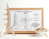 DIY Space Ship Model Kit Deluxe Space Adventure Set with 2 Rockets to Mars