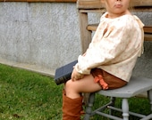 Girls corduroy bubble shorts with bows.  Fall toddler corduroy shorts
