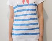 graphic tshirt blue shirt red shirt cotton tee white shirt  illustration