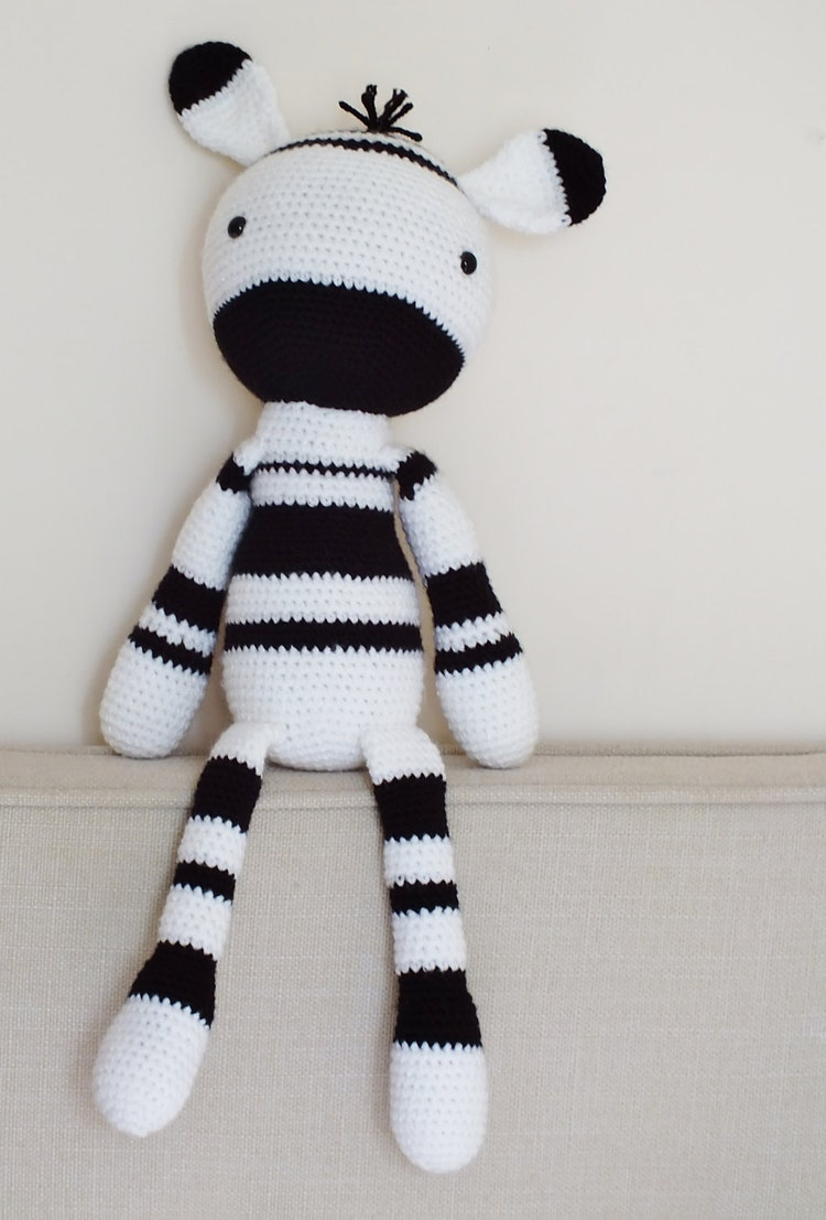 Amigurumi Zebra Patroon : Crochet Amigurumi Zebra PATTERN ONLY Plush PDF by ...