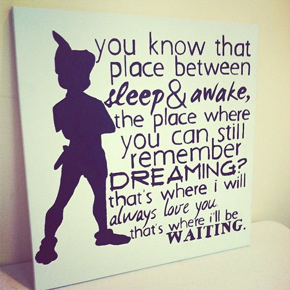 "Peter Pan Quotes: Items Similar To 20 X 20 "" Peter Pan"
