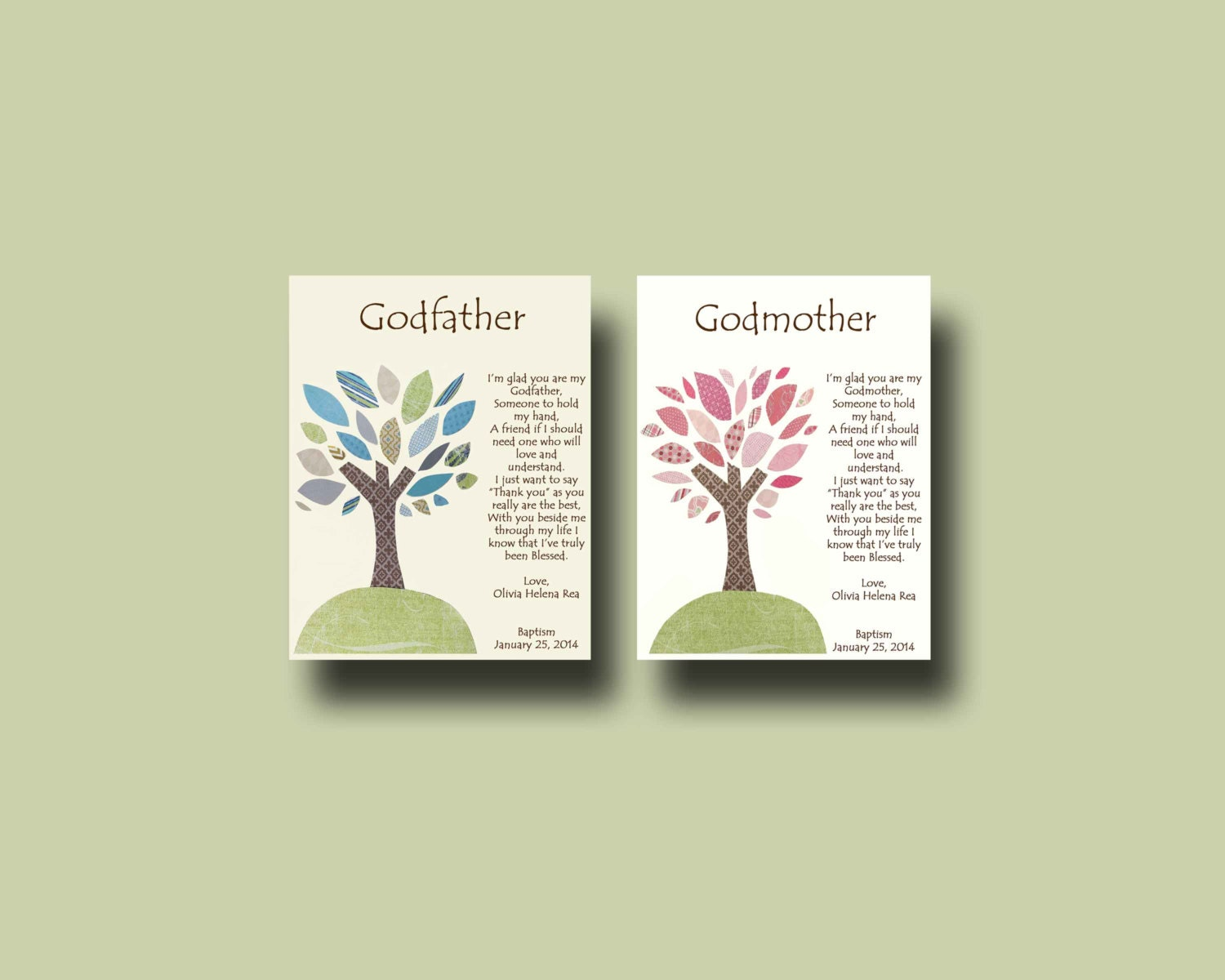 Personalized Gift For: Godparents Gift Personalized Gift For Godmother And